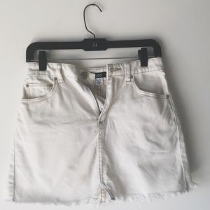 Off white Urban Outfitters mini skirt